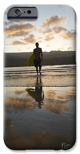Sunset Surfer iPhone Case by Kicka Witte - Printscapes