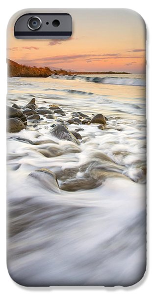 Beach Landscape iPhone Cases - Sunset Tides iPhone Case by Mike  Dawson