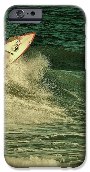Surfing - Jersey Shore iPhone Case by Angie Tirado