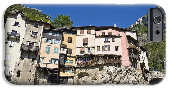 Built Structure iPhone Cases - Suspended village on cliff iPhone Case by Gregory DUBUS