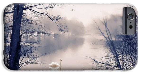 Swans... iPhone Cases - Swan Song iPhone Case by Jessica Jenney