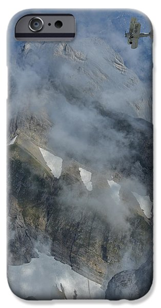 Vertical Flight iPhone Cases - Swiss Alps iPhone Case by Christian Heeb