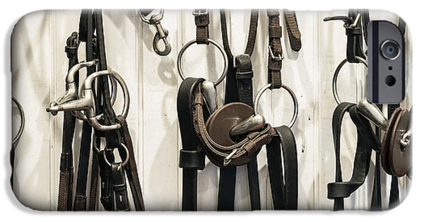 Horse Bit iPhone Cases - Tac Room iPhone Case by John Greim