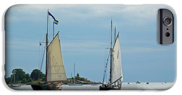 Tall Ship iPhone Cases - Tall Ships Sailing I iPhone Case by Suzanne Gaff
