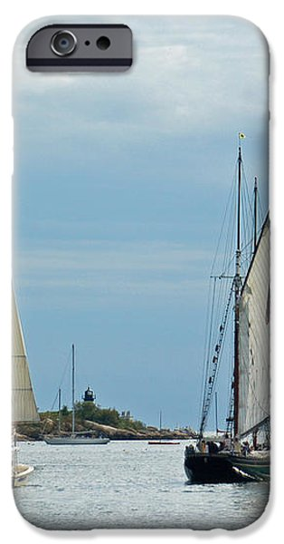 Tall Ships Sailing I iPhone Case by Suzanne Gaff