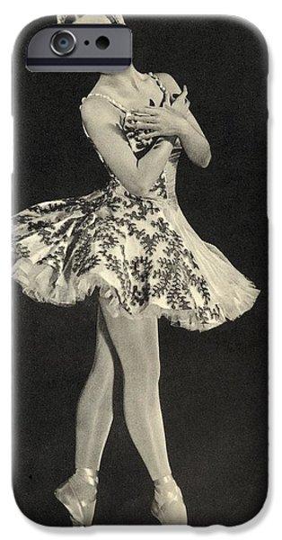 Ballet Dancers iPhone Cases - Tamara Toumanova 1919   1996 Russian iPhone Case by Ken Welsh