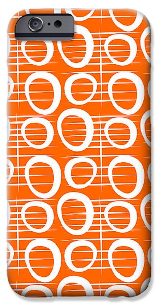 Corporate Art iPhone Cases - Tangerine Loop iPhone Case by Linda Woods