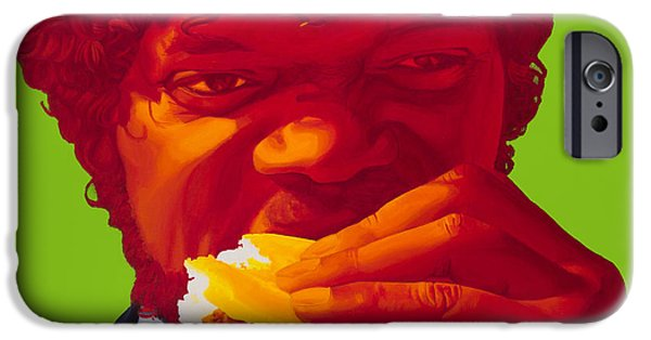 Fan Paintings iPhone Cases - Tasty Burger iPhone Case by Ellen Patton