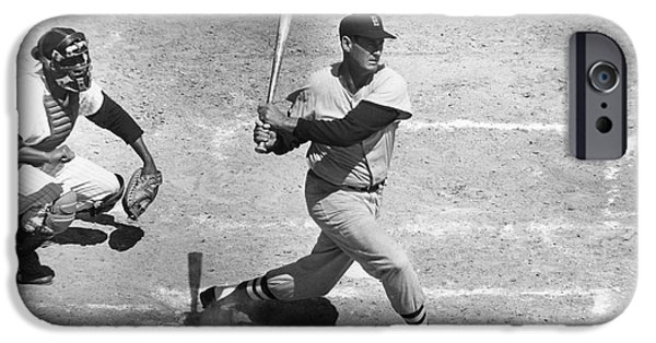Williams Ted iPhone Cases - Ted Williams (1918-2002) iPhone Case by Granger