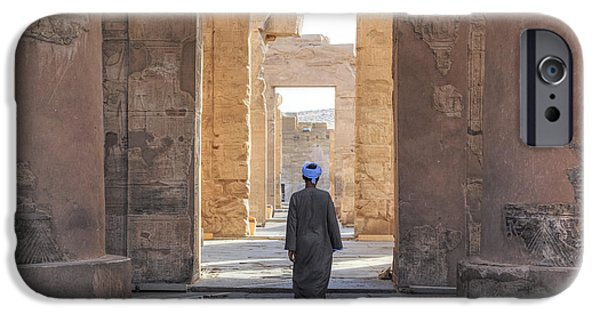 Horus iPhone Cases - Temple of Kom Ombo - Egypt iPhone Case by Joana Kruse