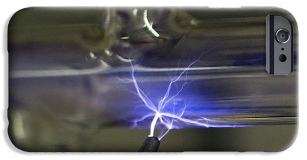 Electrical iPhone Cases - Tesla Coil iPhone Case by Science Source