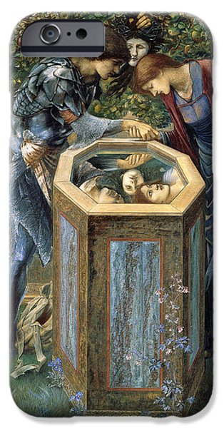 Fruit Tree Paintings iPhone Cases - The Baleful Head iPhone Case by Edward Burne-Jones