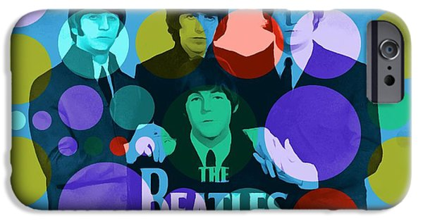 Beatles Mixed Media iPhone Cases - The Beatles iPhone Case by Dan Sproul