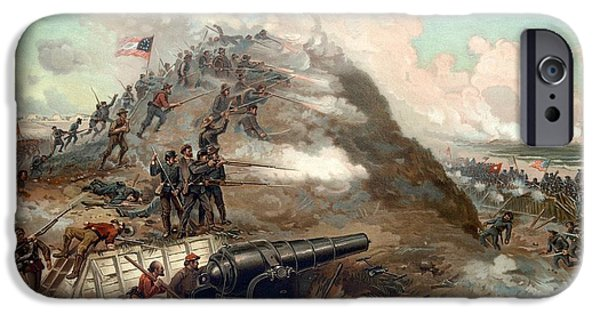 States Mixed Media iPhone Cases - The Capture Of Fort Fisher iPhone Case by War Is Hell Store