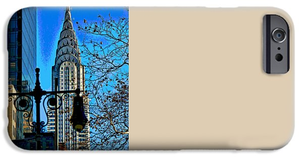 Empire State iPhone Cases - The Chrysler Building iPhone Case by Allen Beatty