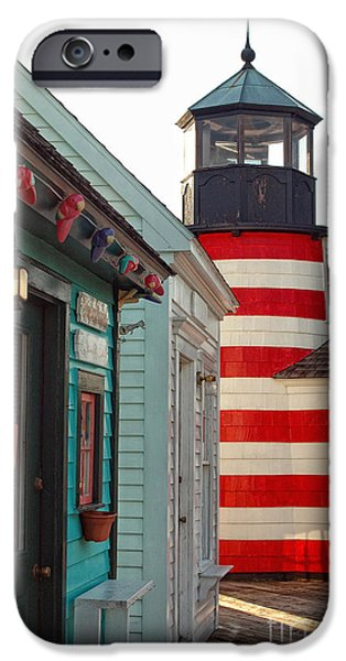 Lighthouse iPhone Cases - The Cove iPhone Case by Joann Vitali