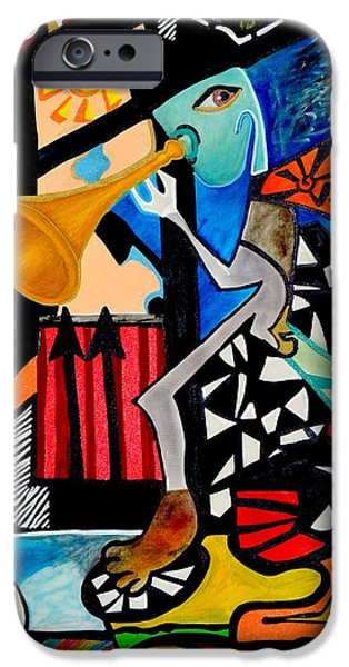 Town iPhone Cases - The Dancing Picture iPhone Case by Mhmod Tayyar