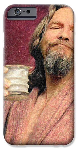 Dude Art iPhone Cases - The Dude iPhone Case by Taylan Soyturk
