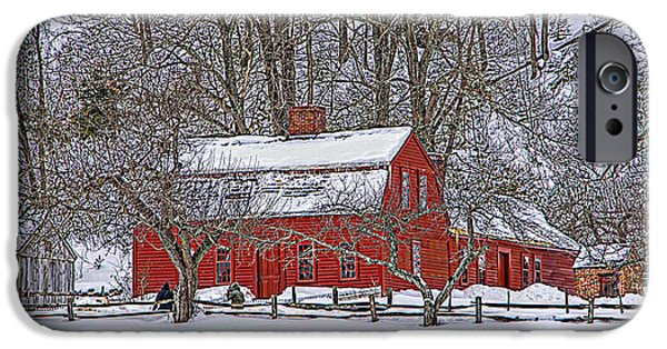 Historic Site Mixed Media iPhone Cases - The Farm House iPhone Case by Douglas Miller