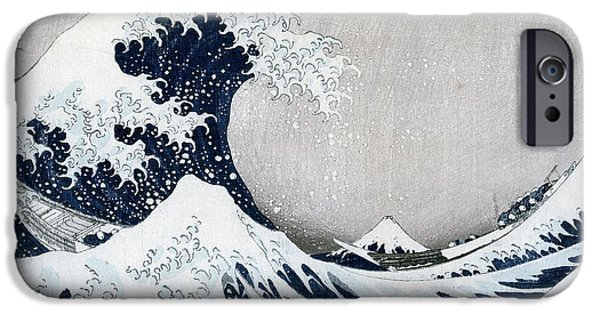 The Great iPhone Cases - The Great Wave of Kanagawa iPhone Case by Hokusai