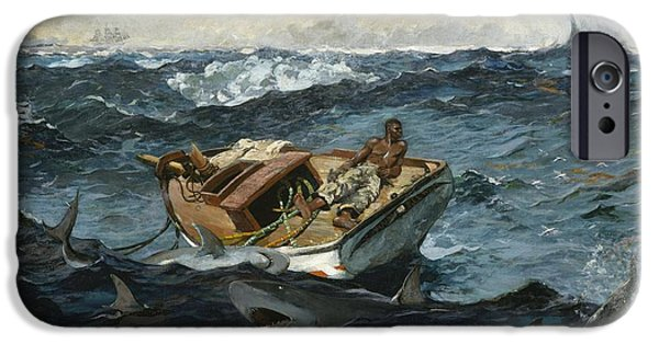Winslow Homer iPhone Cases - The Gulf Stream iPhone Case by Winslow Homer