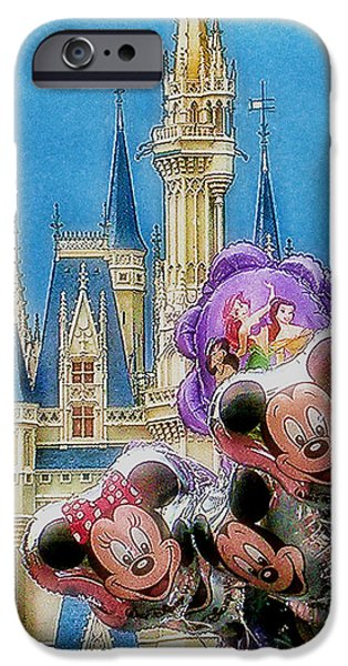 Recently Sold -  - Animation iPhone Cases - The Happiest Place On Earth iPhone Case by Kenneth Krolikowski