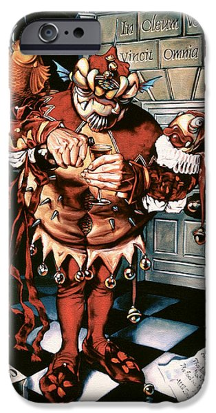 Puppets iPhone Cases - The Jesterook iPhone Case by Patrick Anthony Pierson