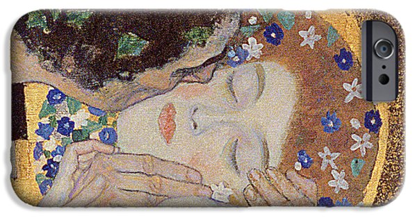 Austrian iPhone Cases - The Kiss iPhone Case by Gustav Klimt
