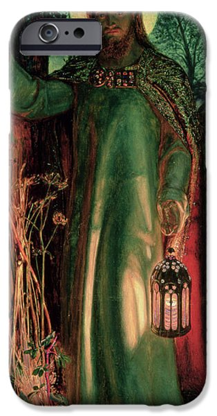 Pre-raphaelites iPhone Cases - The Light of the World iPhone Case by William Holman Hunt