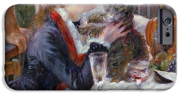 Wine Canvas Paintings iPhone Cases - The Luncheon of the Boating Party iPhone Case by Pierre Auguste Renoir