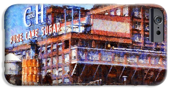 Old Town Digital iPhone Cases - The Old C and H Pure Cane Sugar Plant in Crockett California . 5D16769 iPhone Case by Wingsdomain Art and Photography