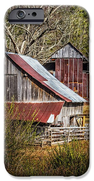 Old Barns iPhone Cases - The Old Farm iPhone Case by Debra and Dave Vanderlaan