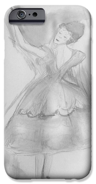 Dance Ballet Roses iPhone Cases - The rose  iPhone Case by Judith Desrosiers