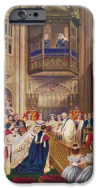 Charlotte Drawings iPhone Cases - The Royal Wedding Between Albert iPhone Case by Ken Welsh