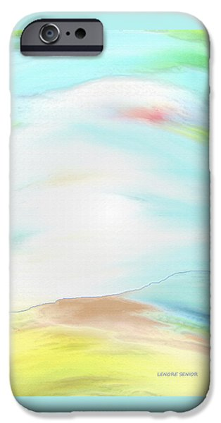 Abstract Expressionism iPhone Cases - The Sky iPhone Case by Lenore Senior