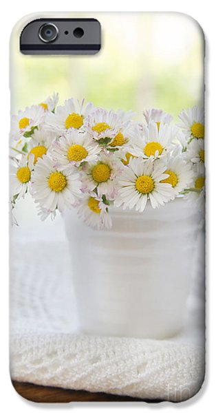 Small iPhone Cases - The small daisy field  iPhone Case by Marco Guidi