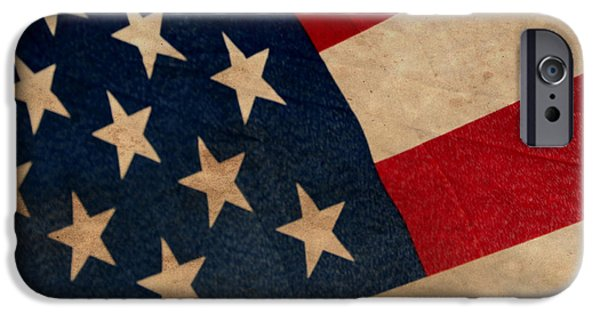 American Flag iPhone Cases - The Stars and Stripes iPhone Case by Amy Steeples