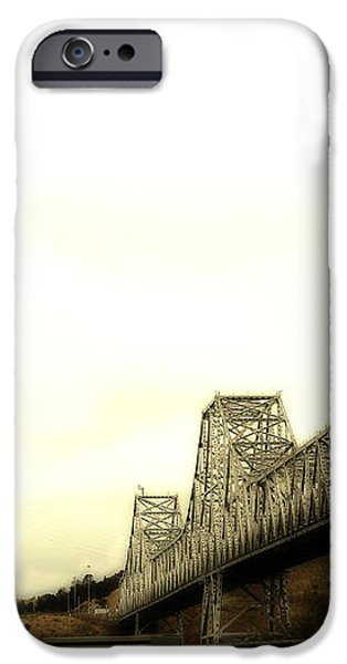 The Two Carquinez Bridges At Crockett and Vallejo California . aka Alfred Zampa Memorial Bridge . 7D8830 iPhone Case by Wingsdomain Art and Photography