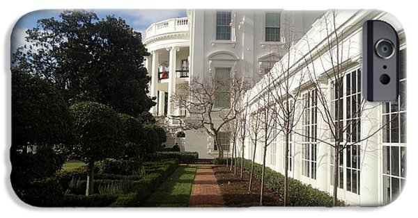 First Lady iPhone Cases - The White House  iPhone Case by James Brock Art