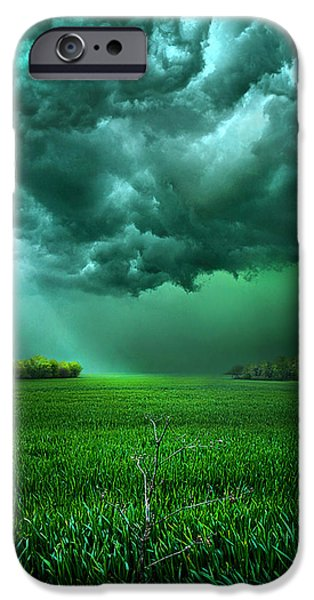 Summer Storm iPhone Cases - There Came a Wind iPhone Case by Phil Koch