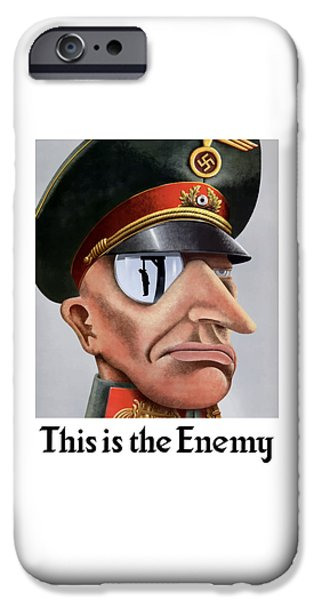 Hangman iPhone Cases - This Is The Enemy - WW2 Poster iPhone Case by War Is Hell Store