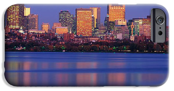 Boston Charles River iPhone Cases - This Is The State Capitol And Skyline iPhone Case by Panoramic Images