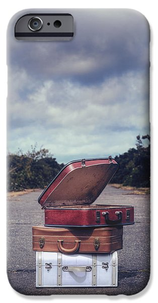 iPhone Cases - Three Suitcases iPhone Case by Joana Kruse