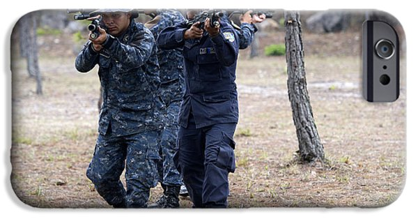 Law Enforcement iPhone Cases - Tigres Commandos Conduct Bounding iPhone Case by Stocktrek Images