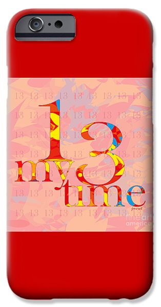 Power iPhone Cases - Time 13 iPhone Case by Johannes Murat