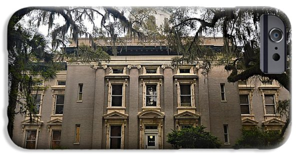 Glynn iPhone Cases - Glynn County Courthouse iPhone Case by Laura Ragland