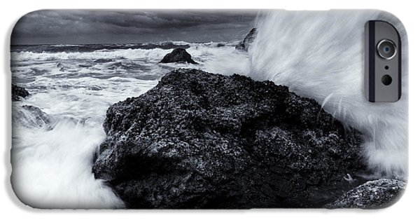 Tides iPhone Cases - Too Close for Comfort iPhone Case by Mike  Dawson