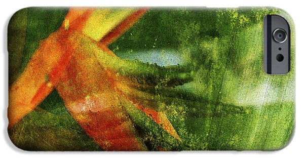 Abstract Digital Mixed Media iPhone Cases - Topia 1 iPhone Case by Kaypee Soh - Printscapes
