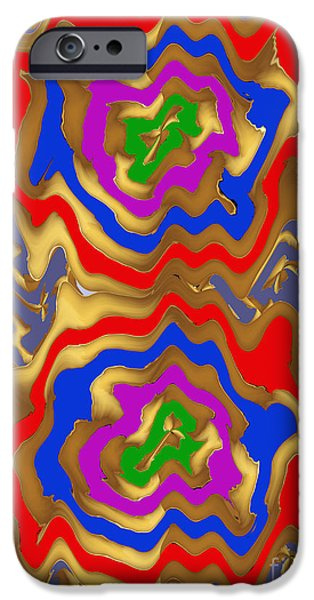 Christmas Greeting iPhone Cases - Tornado Waves HighTide natures abstract colorful signature Navinjoshi FineArtArtAmerica Pixels iPhone Case by Navin Joshi