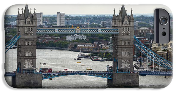 Buildings Mixed Media iPhone Cases - Tower Bridge iPhone Case by Svetlana Sewell